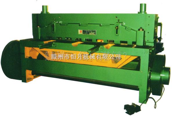 机械剪板机的形式区分及其各个构件的特点